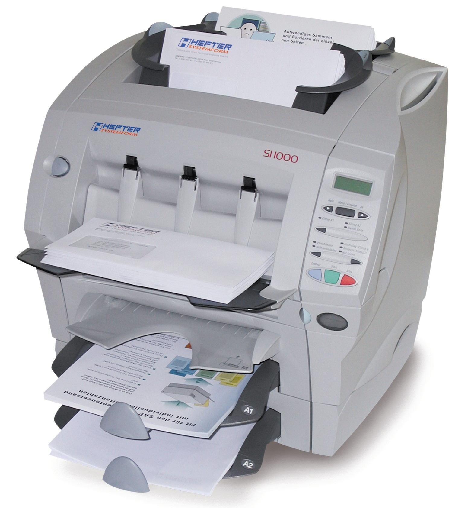SI 1000: the fast table top inserting machine - Hefter